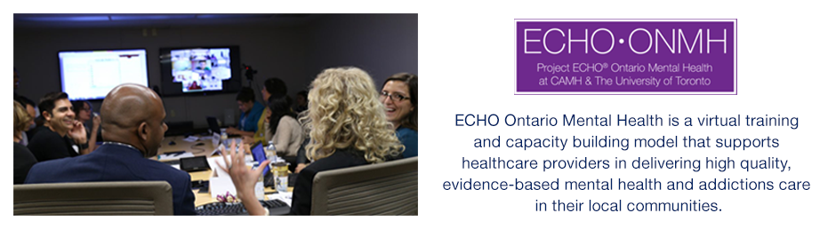 ECHO Ontario Mental Health: a virtual training and capacity building